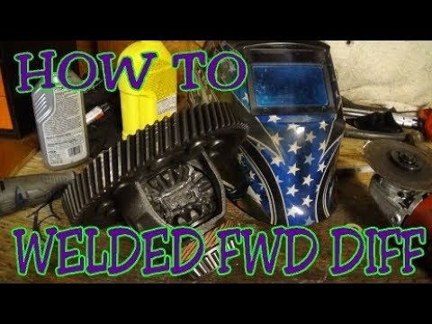 HOW TO WELD FRONT WHEEL DRIVE DIFFERENTIAL | HOW TO WELD A ...