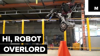 Parkour robot overlord has 'Terminator' written all over it