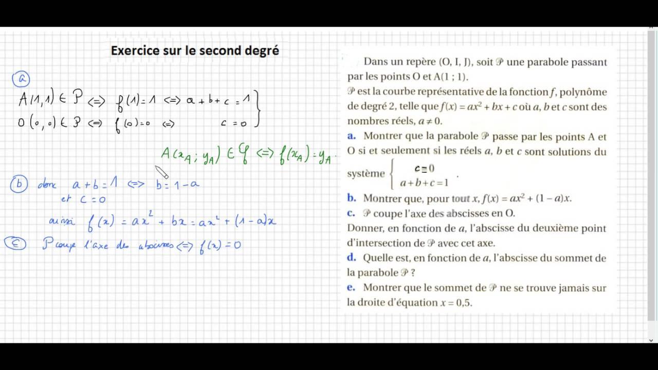 Telecharger Exercice Polynome Du Second Degre 2nde Mathematiques Gratuit 1 Pdf Pdfprof Com