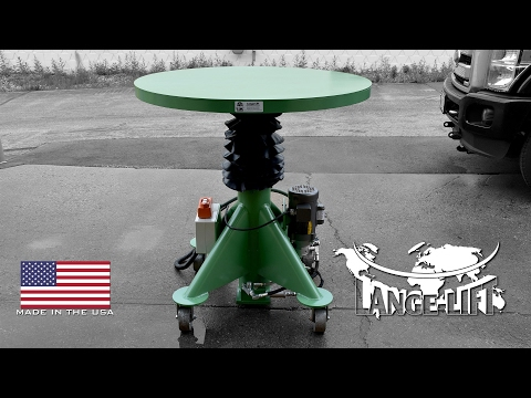 Dust Bellow Guarded Round Top Electric Powered Lift Table | 2,000 Pound Capacity