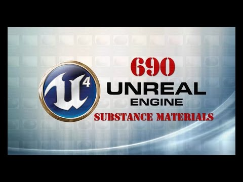 Free 690 substance materials library + Tutorial for unreal engine 4