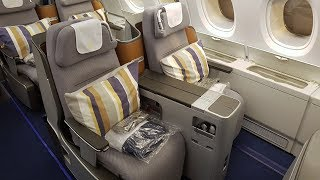 Enjoy the luxury of the Lufthansa A380 Business Class on this fligh...