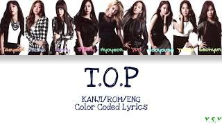 Girls' Generation 소녀시대 - T.o.p Kanji Rom Eng S
