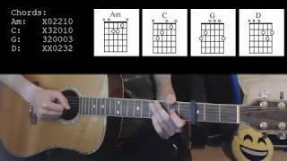 Justin Timberlake – Say Something ft. Chris Stapleton EASY Guitar Tutorial
