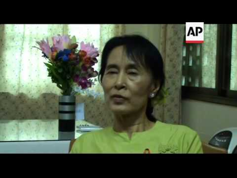 AP one on one interview with Aung San Suu Kyi