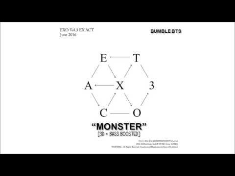 [3D+BASS BOOSTED] EXO (엑소) - MONSTER (몬스터) KOREAN VER.   bumble.bts