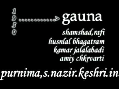 gauna _ shamshad.rafi- md . husnlal bhagatram 1950