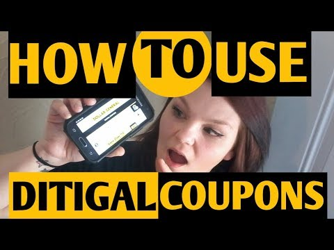 How To Use Digital Coupons// Dollar General