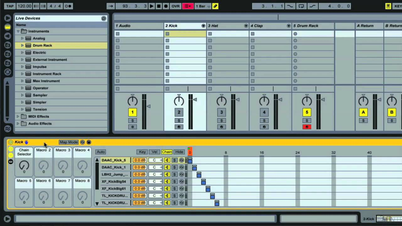 Sample based hip hop using Ableton Live 9