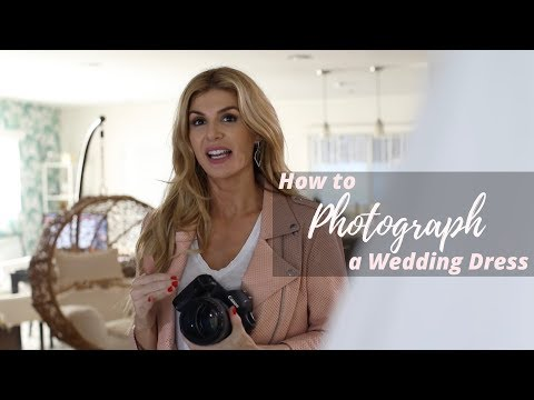 How to Photograph a Wedding Dresses