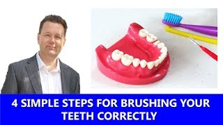4 Simple Steps for Brushing your Teeth Correctly  😬