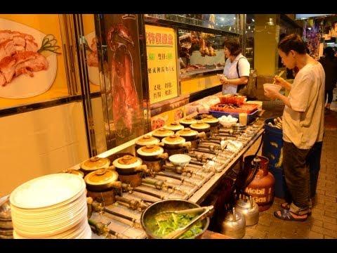 Hong Kong Street Food. The Preparation of Rice Hot Pot