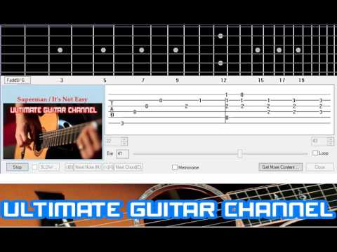 [Guitar Solo Tab] Superman / It's Not Easy (Five For Fighting)