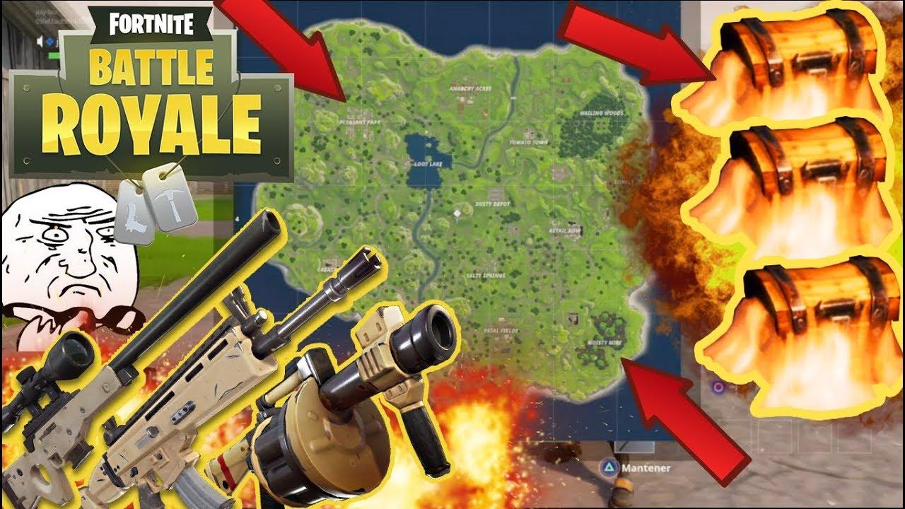 Los Mejores Lugares Para Lootear Fortnite Battle Royale Nexsgo Youtube
