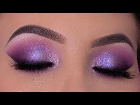 Purple Violet Eye Makeup Tutorial | Purple Holiday Makeup