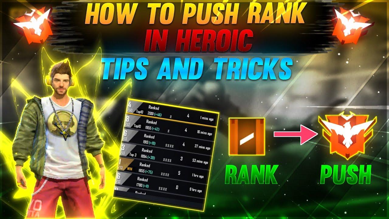 #Free Fire Rank Push To Heroic Pro Tricks [ Hindi ] - Garena Free Fire
