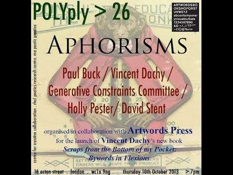 POLYply 26: APHORISMS