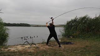 Ловля карпа на бойлы.Марьевское водохранилище.Carp fishing.Карпфишинг