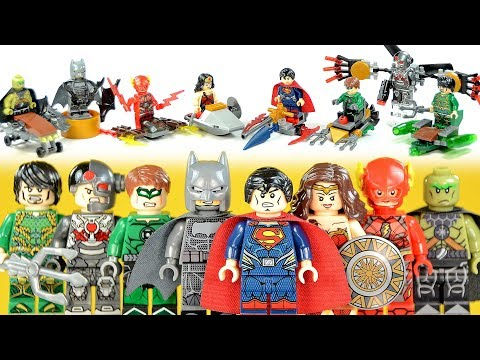 Justice League Batman Superman Wonder Woman Flash Aquaman Green Lantern Unofficial LEGO Mini Builds