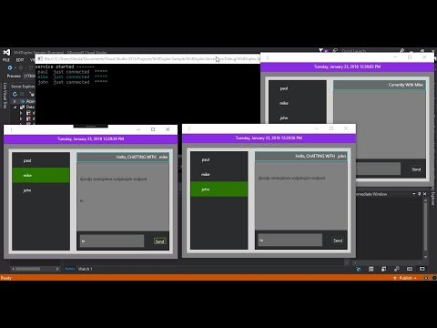WCF TCP/IP Duplex Chat Application With WPF Pt 9
