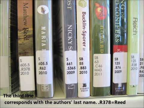 Library of Congress Classification System (call numbers).wmv