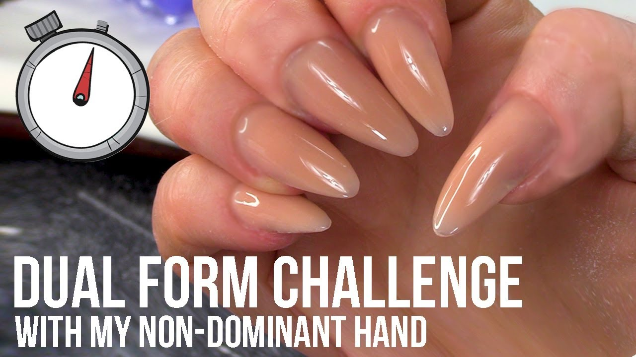 How Quickly Can I Do My Nails Using Non Dominant Hand And Dual Forms