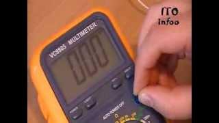 Как пользоваться мультиметром?(Ссылка на мультиметр: http://www.radio-market.com.ua/catalog/?SECTION_ID=1429&ELEMENT_ID=34428 Всем привет! По просьбе наших подписчиков..., 2013-10-31T13:46:37.000Z)