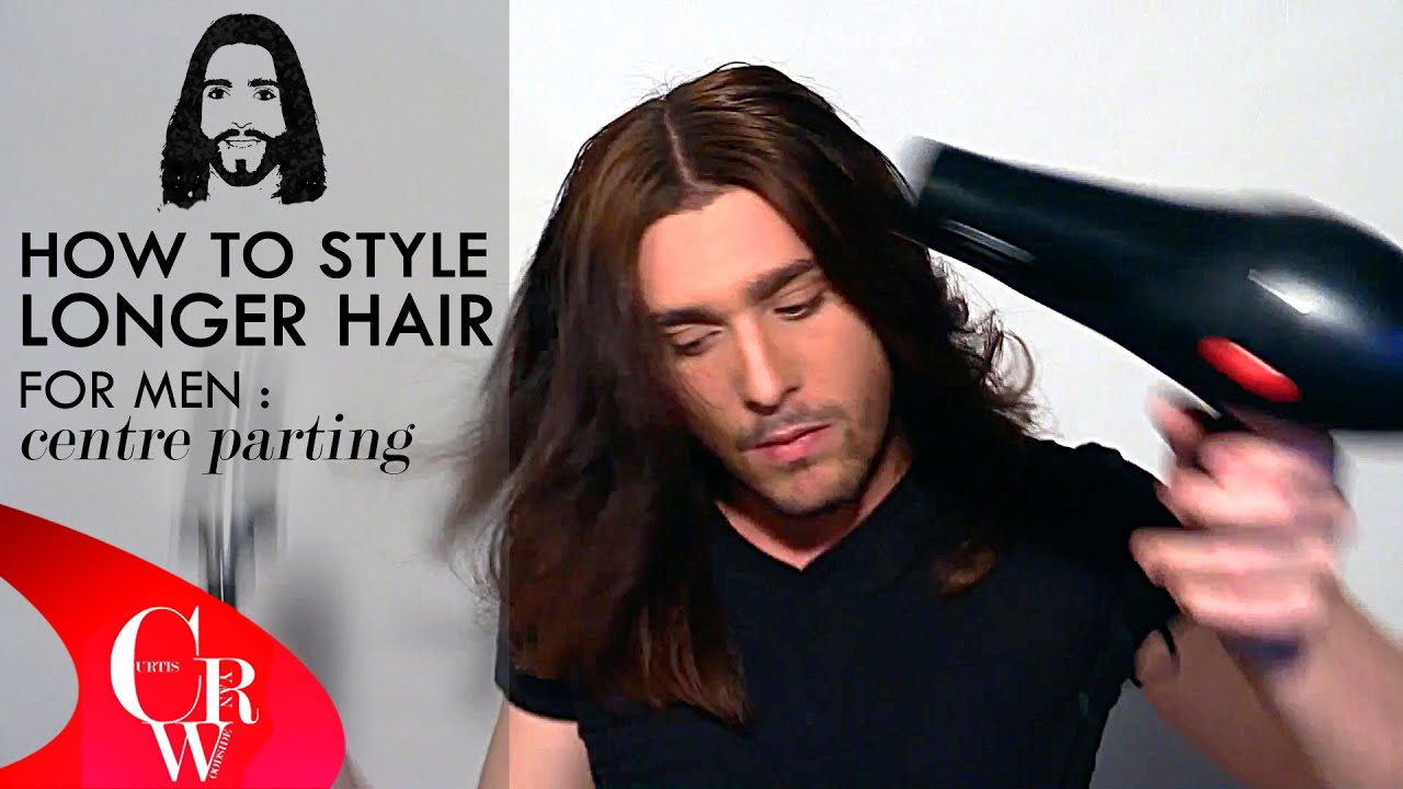 Long Hair For Men Centre Parting How To Styling Tutorial Youtube