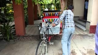 Indias first pedal assist battery driven rickshaw.