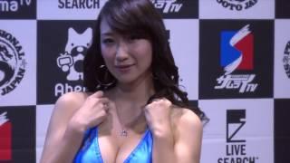 2017年サステイン主催プロ修斗大会でラウンドガールを担当 紺野ミク [ M...