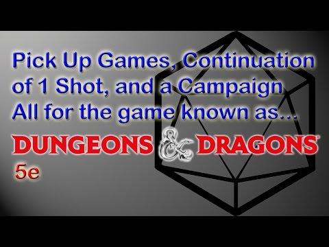 5e pick-up games