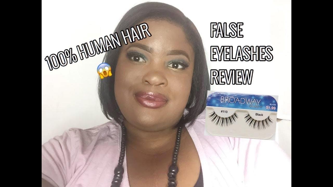 81110803300 100% Human Hair For Eyelashes Broadway Lashes Kiss Cosmetics Review ...