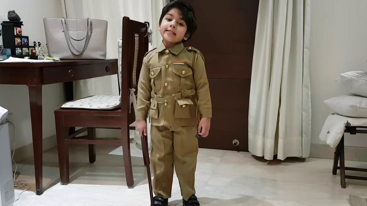 Show n Tell - Policeman - Cop -Community Helper - Raghav Mathur (4 y/o) -  nursery kids - police poem