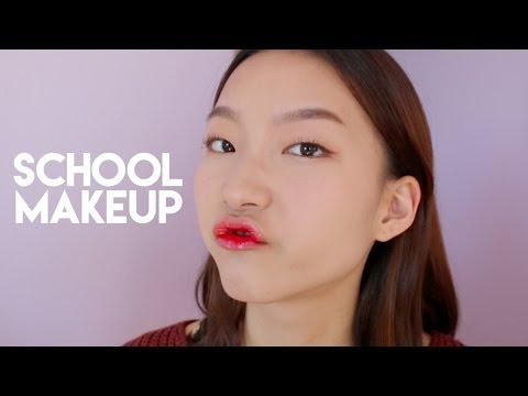 Warm Orange Makeup Look for Hooded Eyes / School Makeup | diane 다이앤
