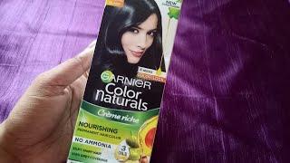 Garnier Color Naturals Creme riche | Natural Black No.1 | Best Hair Colour | Color Hair at Home |