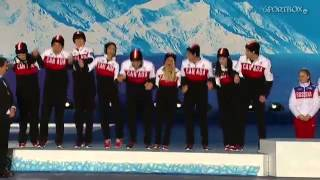 SOCHI 2014 Victory ceremony - Figure Skating - Team