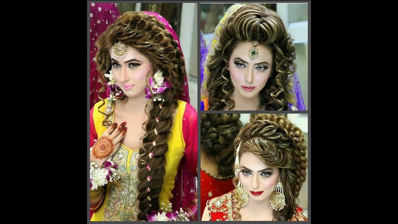 bridal hairstyle for long hair latest indian pakistani bridal hairstyle 2019