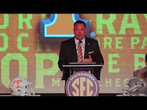 Butch Jones speaks at SEC media Days
