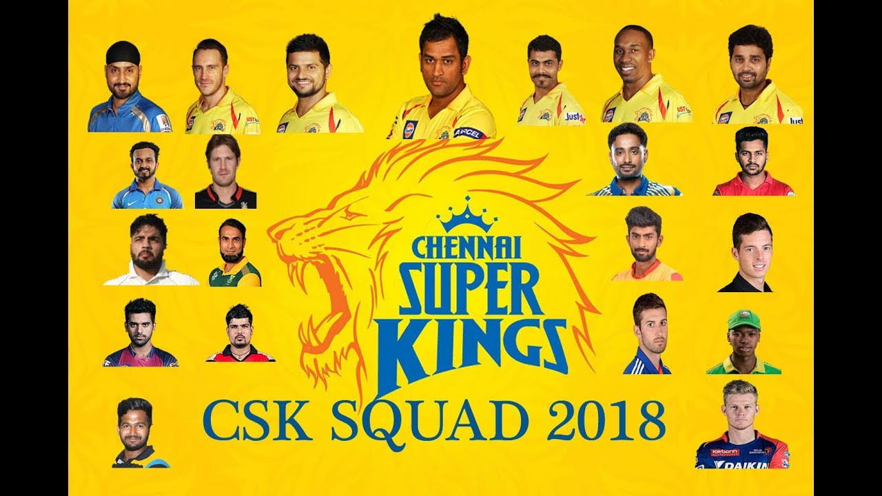 Image result for csk squad 2018