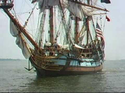 Kalmar Nyckel Comes In To Dock, Yorktown, VA