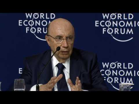 Davos 2017 - Press Conference with the Finance Minister of B