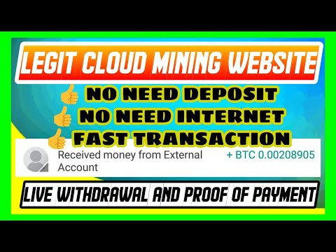 LEGIT Bitcoin Cloud Mining Website 2020 Live Withdrawal And Proof Of Payment