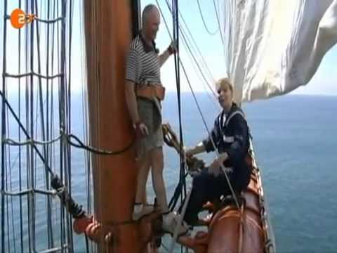 """Größte Windjammer der Welt """"Sedov"""" - Aushilfsmatrose auf dem Segelschiff"""