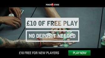 PokerStars £10 Free Cash Bonus | PokerStars.UK