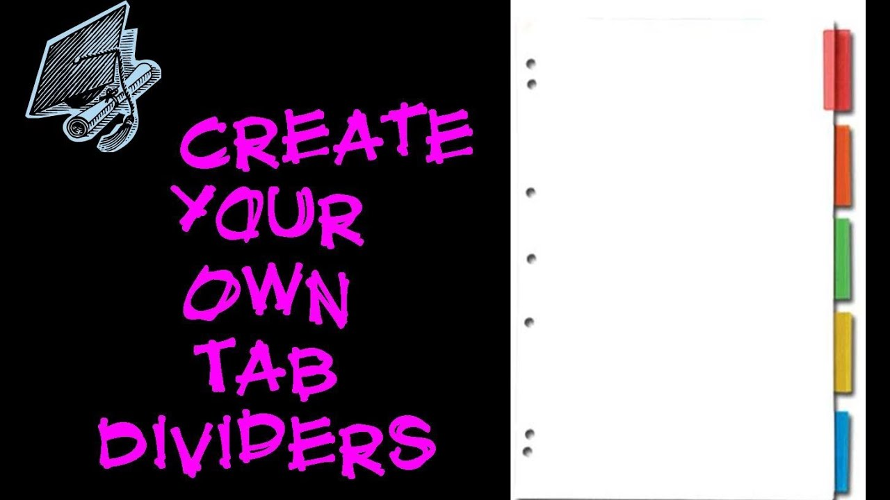 college essentials create your own dividers youtube