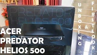 ACER PREDATOR HELIOS 500 GAMING LAPTOP UNBOXING & FIRST LOOK (FLIPKART)