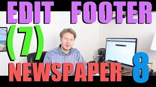 Newspaper 8 Theme Tutorial 2018 (Part 7) - How To Edit Footer In Wordpress 2018