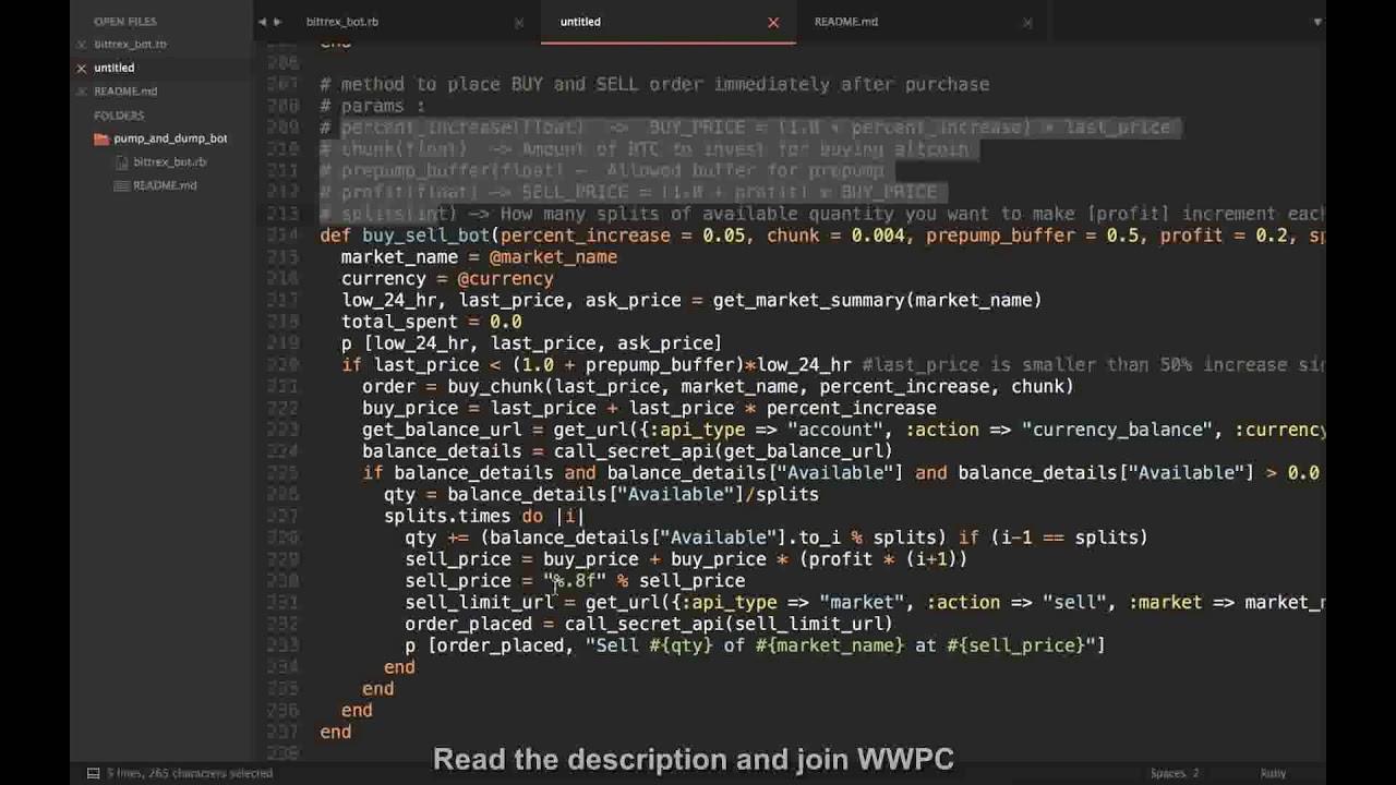 bittrex pumpe und dump bot frei bitcoin broker in malta