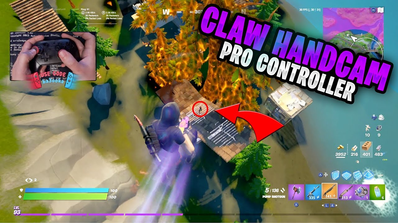 Fortnite on the Nintendo Switch Pro Controller #358