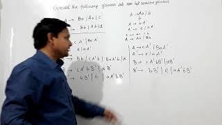 Eliminating left recursion from artificial grammar